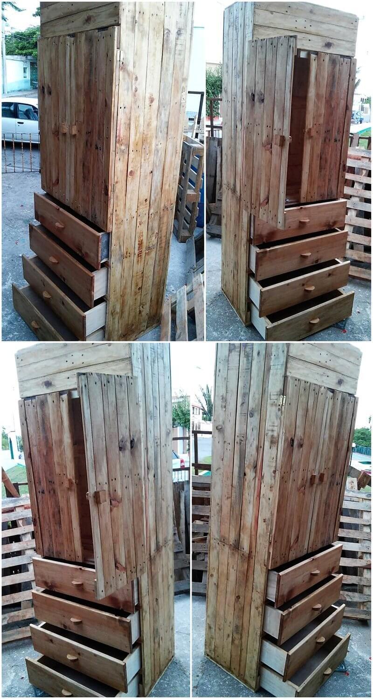wooden pallet clsoet plan
