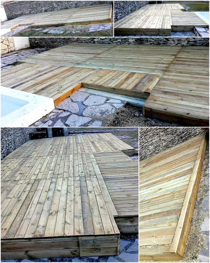 wooden pallet garden terrace