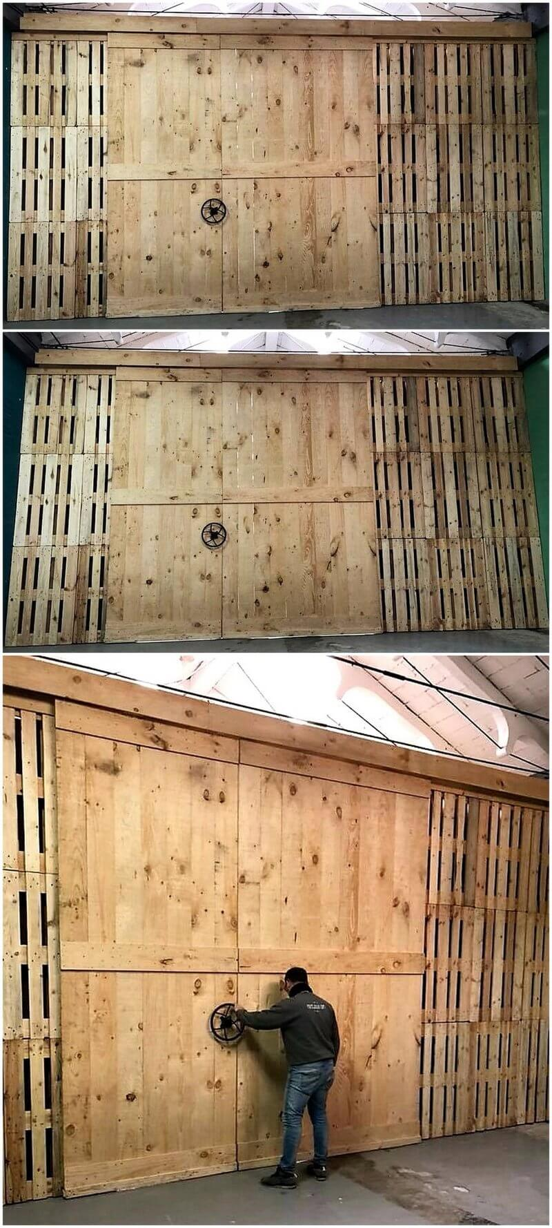 wooden pallet gate project