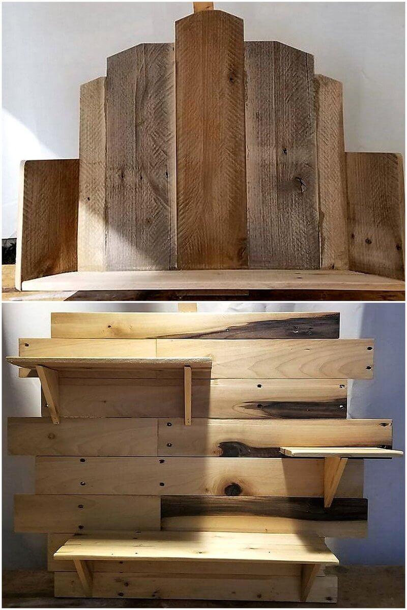 wooden pallet shelf art