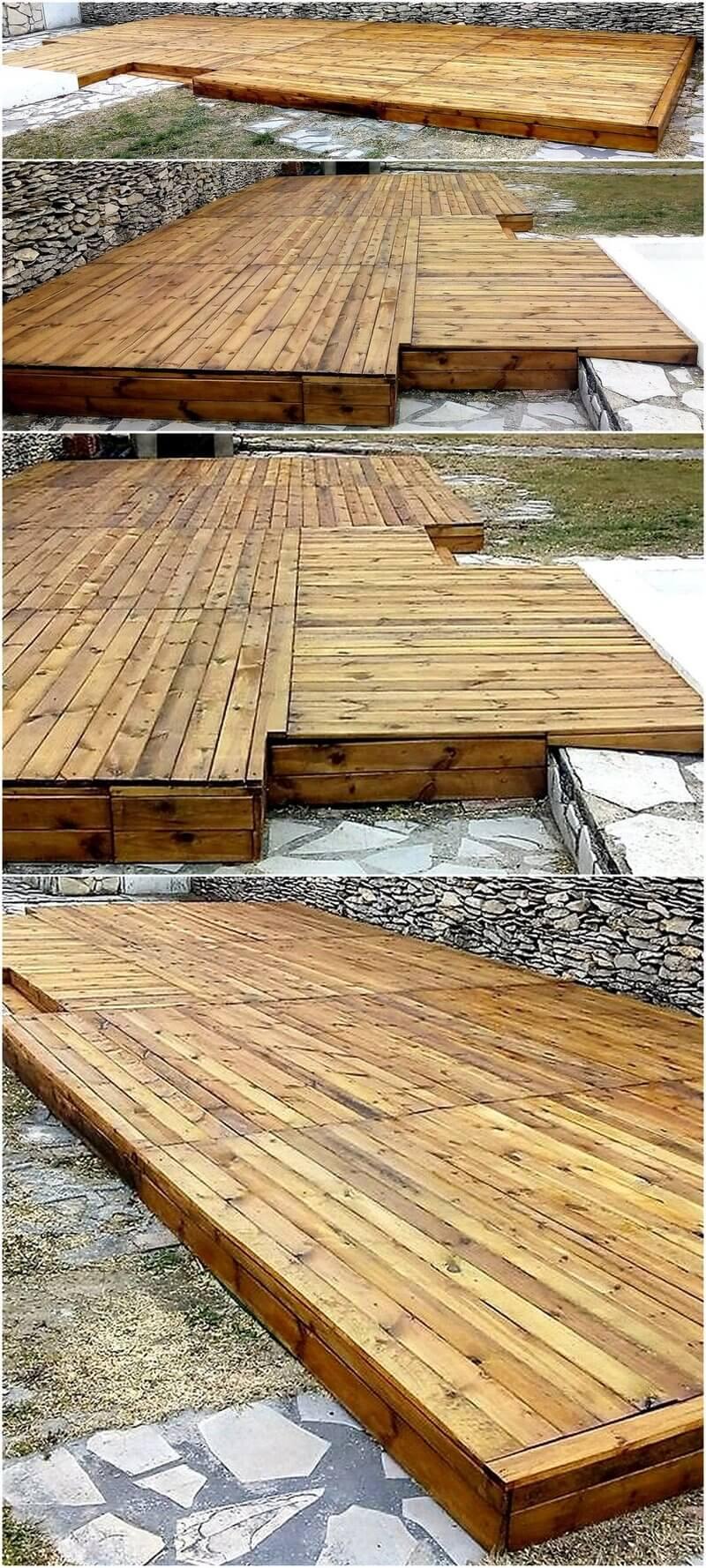 wooden pallets garden terrace